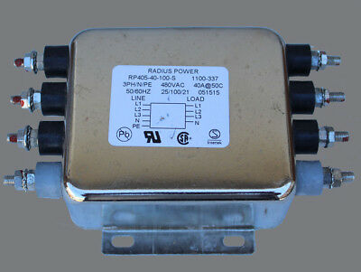 NEW RADIUS POWER RP405 3-Phase Wye Single Stage Power Line Filter RP405-40-100-S