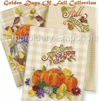 Golden Days Of Fall Collection - Machine Embroidery Designs On Cd Or Usb