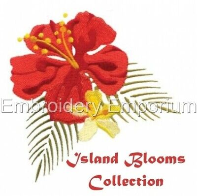 Island Blooms Collection - Machine Embroidery Designs On Cd Or Usb