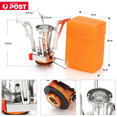 Portable Outdoor Compact Camping Hiking Fishing Gas Heater Stove Cooker Mini