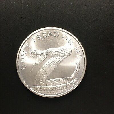 2019 Silver Shield 1oz Don't Tread on Me .999 Fine Silver Round Snake Coin
