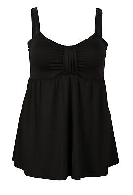 Rrp $48.50 Dolly Women Black Swimdress With Padded Bra 14-16 Dd/E