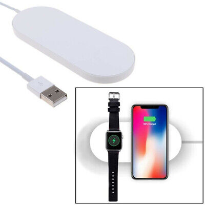 Charging-Stand-Mount Cradle-Dock 2In1 For Apple Watch and iPhone XS XR X 7 8 US