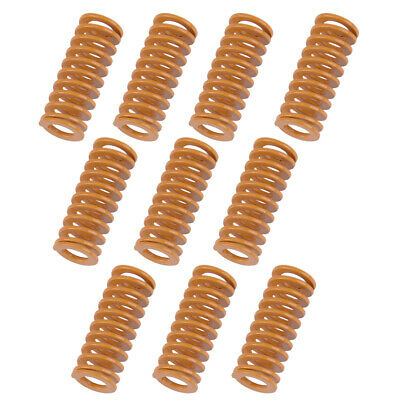 10x of 8mm OD 20mm Long Light Load Stamping Compression Mould Die Spring Yellow