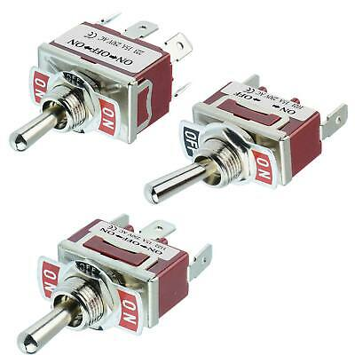 12V Universal Metal On/Off/On & On/Off Toggle/Flick Switch Single/Double Pole