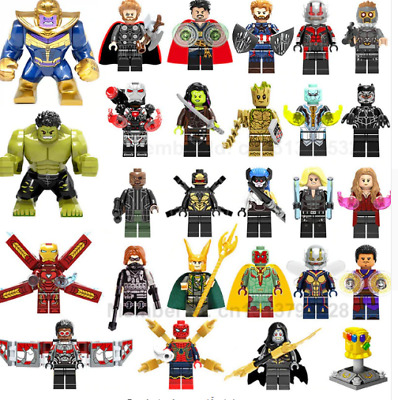 27pc Lot Marvel Avengers Infinity War End Game Action Minifigures Fits Lego RARE