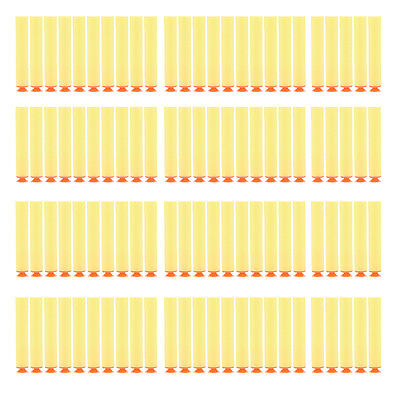100 Pcs Yellow Refill Darts Bullet for N-Strike Blasters with Sucker EFUS