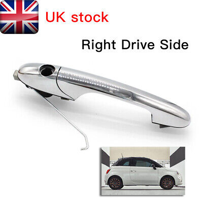 Genuine Fiat 500 Offside Right Driver Side Chrome Outer Door Handle 735592012