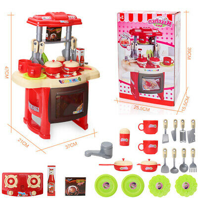 Portable Electronic Children Kids Kitchen Pretend Cooking Toy Cooker Play Set UK