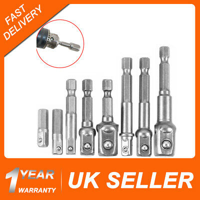 8X Magnetic Socket Bit Adapter Hex Impact Drill Bits Driver Bar Wrench Extension