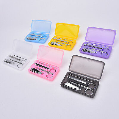 Professional 4pcs Pedicure Manicure Set Nail Care Cuticle Clipper Tool Kit Case&