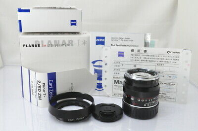 [EXCELLENT]Carl Zeiss Planar T* 50mm F/2 ZM Lens in Black for Leica M w/Box