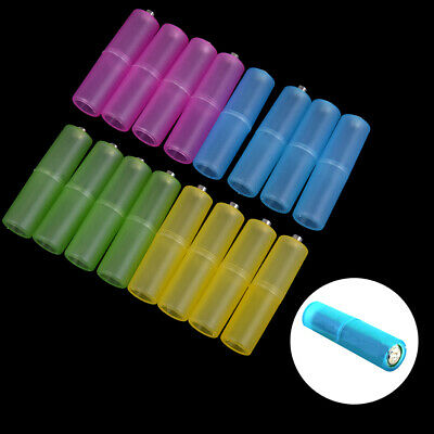 4pcs AAA to AA size cell battery converter adapter batteries holder plastic case