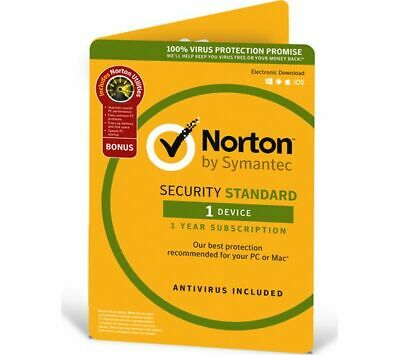 Norton Internet Security Standard 2019 Antivirus 1 Device 1 Year PC/MAC/Android