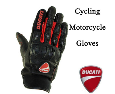 GUANTI DUCATI  Leather Racing Glove Motorcycle Gloves Ride Bike Driving Bicycle