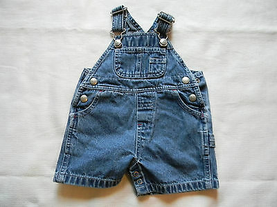 Boys Or Girls Classic Baby Gap Denim Overalls - Shorts Size Xs 0-3 100% Cotton