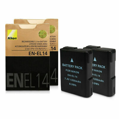 UK 2x Battery For EN-EL14 Nikon DF D5300 D5200 D3200 D5100 P7000 P7100 enel14