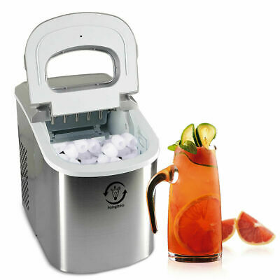 Electric 2L Automatic Ice Cube Maker Machine LED Display 15KG Capacity New