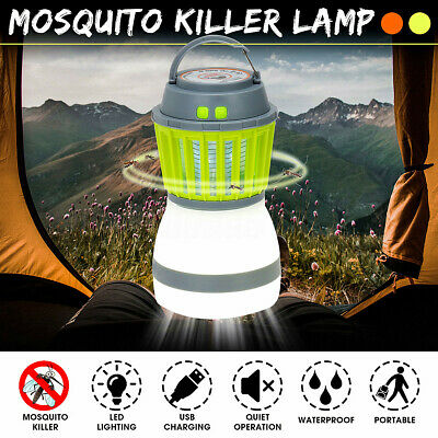 USB Solar Camping UV Light Mosquito Killer Lamp Insect Bug Zapper Bug Fly Trap