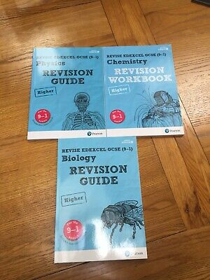 GCSE Edexcel Biology, Chemistry and Physics revision guides