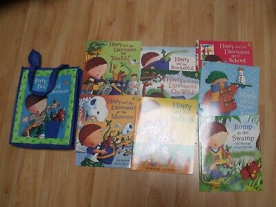 Harry & The dinosaurs 9 x Book Collection and bag!