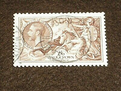 1934 GB Stamps KGV Seahorses 2/6 2s6d SG450 RE-ENGRAVED Issue FINE USED