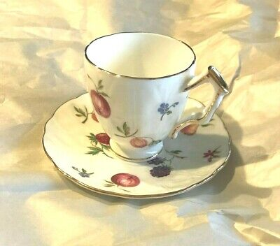 """Aynsley """"Florida"""" ~ Demitasse Cup and Saucer ~ Mint Condition"""