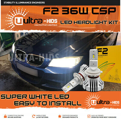 F2 H7 Bmw E90 Lci 2004-10 Canbus Error Free White Led Kit Accurate Beam Pattern