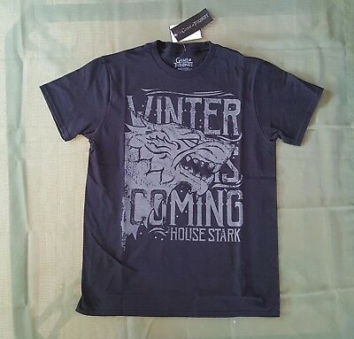 Game of thrones ' House of Stark' Winter is coming Tee  TV Official Merch Medium