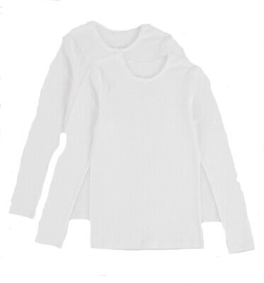 Ex Marks and Spencer Long Sleeve Vests Size 13-14 Years (P158.15)