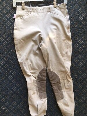 TAILORED SPORTSMAN Side Zip Horse RIDING Breeches Youth sz 16 *VGC* Tan