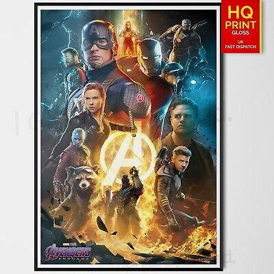 Avengers End Game Poster 2019 Marvel Comics Movie Art Poster | A4 A3 A2 |
