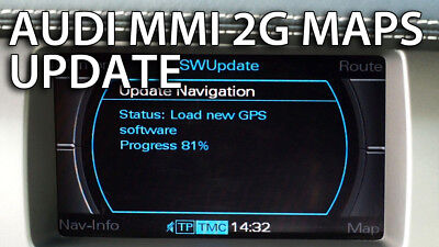 Audi New 2018-19 Latest Map Update MMI 2G High Europe Sat Nav DVD A4/A5/A6/A8/Q7
