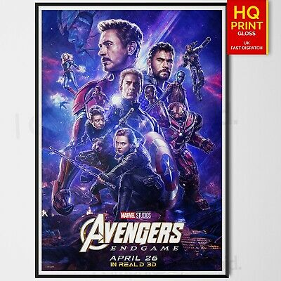Avengers End Game Poster Art Marvel Comics 2019 Movie Poster | A4 A3 A2 A1 |
