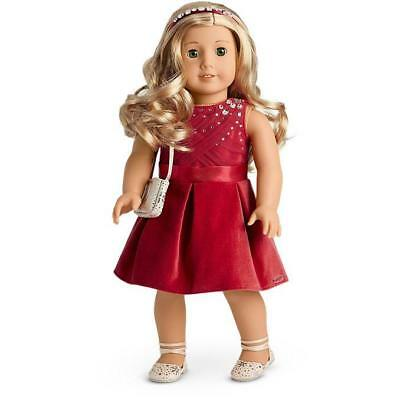 New American Girl Red Tis the Season Party Dress~Sparkly Outfit~Tenney~Isabelle