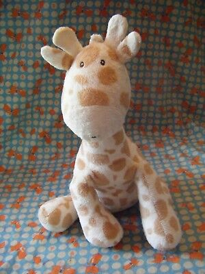 """Marks & Spencer 12"""" Approx  Giraffe Rattle Baby Comforter Soft Toy Vgc"""