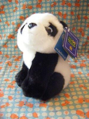 """Wild Republic Wild Watchers Panda  Chester Zoo Soft Toy 7"""" approx with  tag  VGC"""