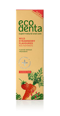 ECODENTA Wild strawberry flavoured kids toothpaste 75ml