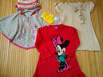 NICE WINTER 5x BUNDLE BABY GIRL JUMPERS 18/24 MTHS MINNIE PONCHO (0.7)