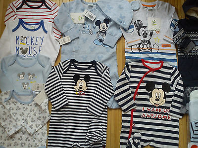 AMAZING 37x NEW BUNDLE OUTFITS WINTER MICKEY MOUSE BABY BOY 0/3/6 MTHS(3.2)NRC37