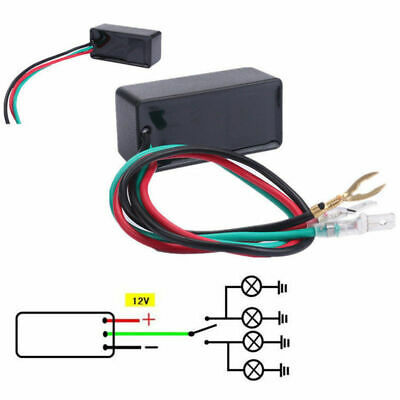 Flasher Relay Shockproof Durable Universal for Car/Motorcycle Halogen/LED light