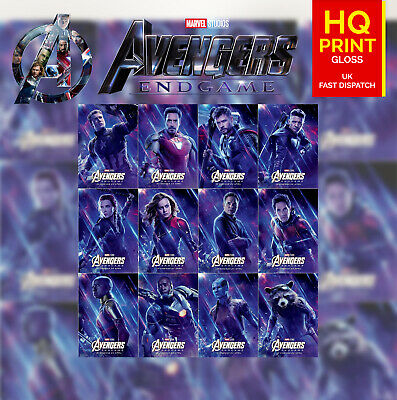Avengers End Game Thai Characters Posters Marvel Movie 2019 | A4 A3 A2 A1 |