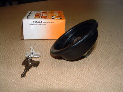 Ford Escort Mk3 Locking Fuel Cap from 1980.   angled type two keys never used