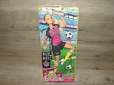 Barbie Made to Move The Ultimate Posable Soccer Player Doll * READ * New! ^