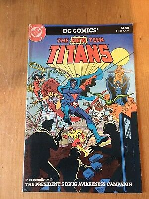 Dc Comics' The New Teen Titans President's Drugs Awareness Campaign 1983 Nm