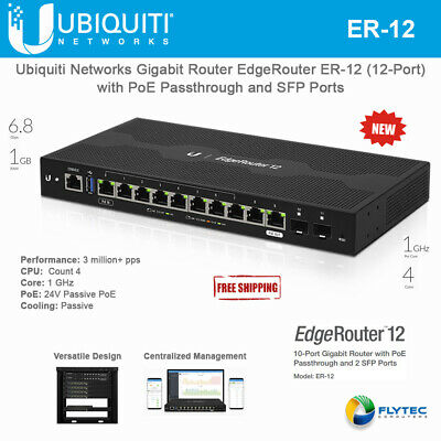 UBIQUITI NETWORKS ER-4 Edge Router 4 4-Port Gigabit Router with 1