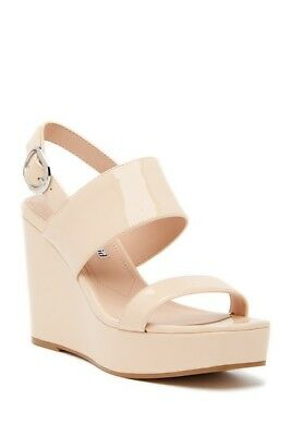 52111c9fa9c NIB CHARLES DAVID Jordan Patent Leather Wedge Platform Sandal 10 $249