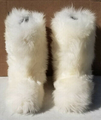 94e23f57068 UGG AUSTRALIA RARE Tall Original Fluff Momma Natural Sheepskin Boot #5302  Sz W8