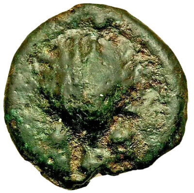 Anonymous. Ca. 280 BC. AE aes grave sextans (36mm, 49.52 gm, 6h). About VF. Rome