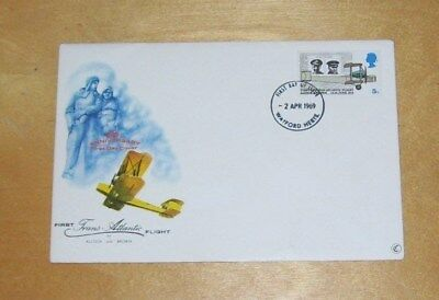 First Transatlantic Flight Alcock & Brown First Day Cover 1919-1969